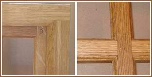 Oak window mouldings