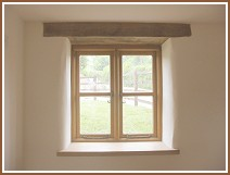 Traditional oak window